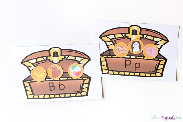 Pirate treasure alphabet activity that would be perfect for summer pirate themes!
