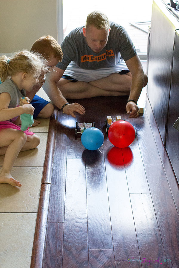 Racing balloon cars is a fun STEM activity for kids to do at home or in the classroom.