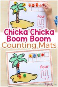 Chicka Chicka Boom Boom Counting Mats