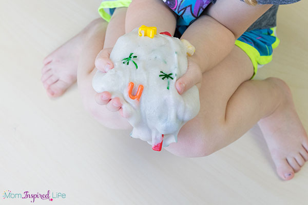 A fun summer slime that goes with the book Chicka Chicka Boom Boom.