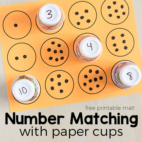 This number matching activity will help kids learn counting, number recognition and one to one correspondence.
