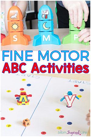 Fine motor abc activities.
