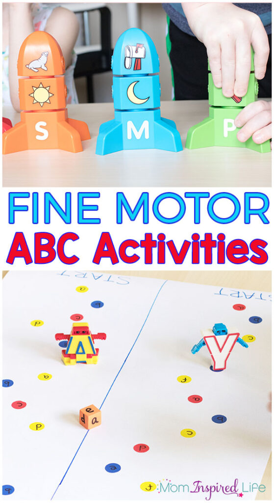 Your kids will love these fine motor alphabet activities! They are super fun ways to learn the alphabet while building fine motor skills!
