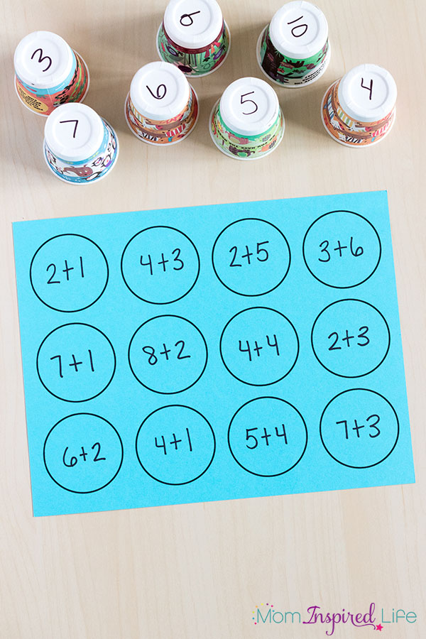 Addition and subtraction math facts activity that would be perfect for math centers.