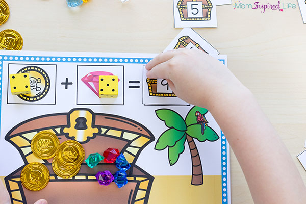 A fun way for kids to learn addition math facts in a hands-on way!