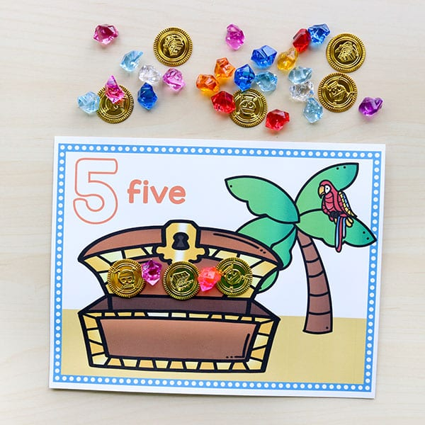 This pirate math activity is so much fun for kids!