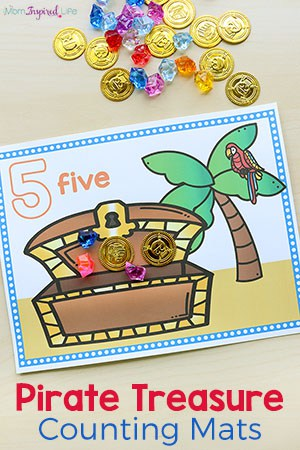 Pirate Treasure Counting Mats