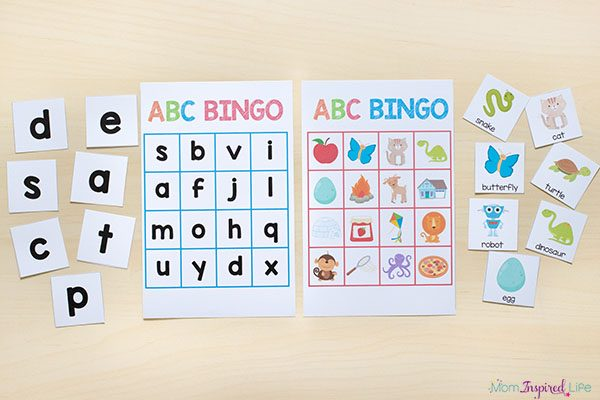 Alphabet and letter sounds BINGO.