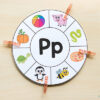 Beginning sounds clip card wheels. A fun printable alphabet activity.