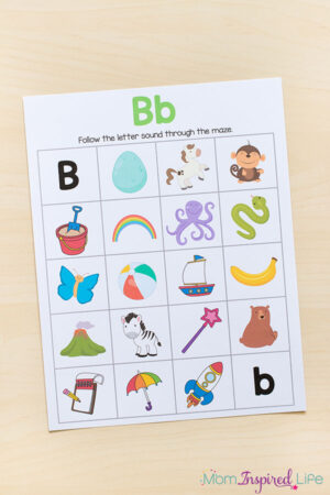 Kids love these beginning sounds alphabet mazes.