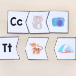 Alphabet puzzles for learning beginning sounds.