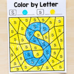 Color by letter alphabet printables. Discover the mystery letter!
