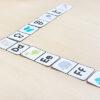 Alphabet dominoes printable activity.