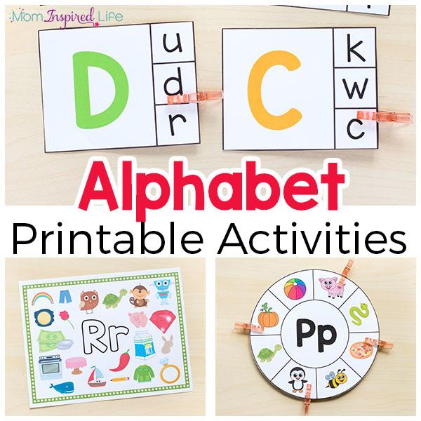 Alphabet printables and activities for preschool and kindergarten.
