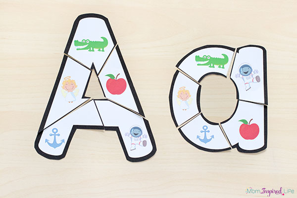 Alphabet letter puzzles make learning the alphabet hands-on and engaging.