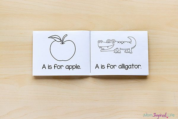 Interactive alphabet mini books that are foldable.