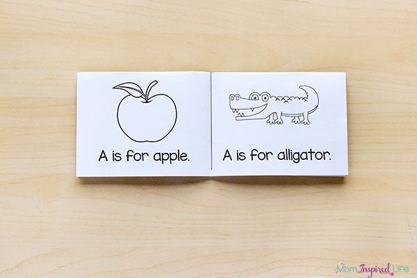 Interactive alphabet mini books that are foldable.
