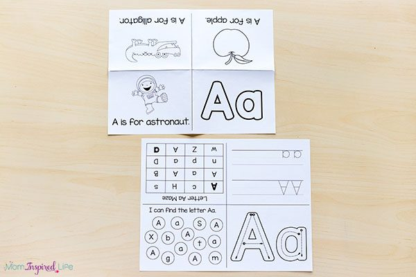 These alphabet mini books are interactive and engaging.