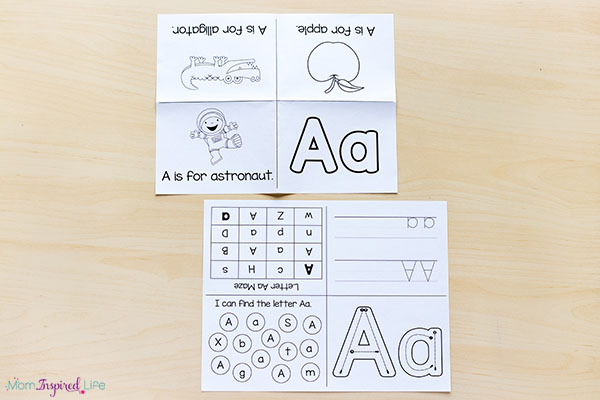 photograph relating to Free Printable Alphabet Books called Alphabet Printables and Routines for Preschool and