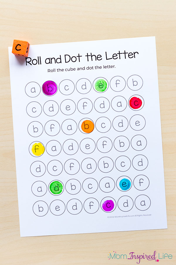 Roll and dot the letter alphabet game.