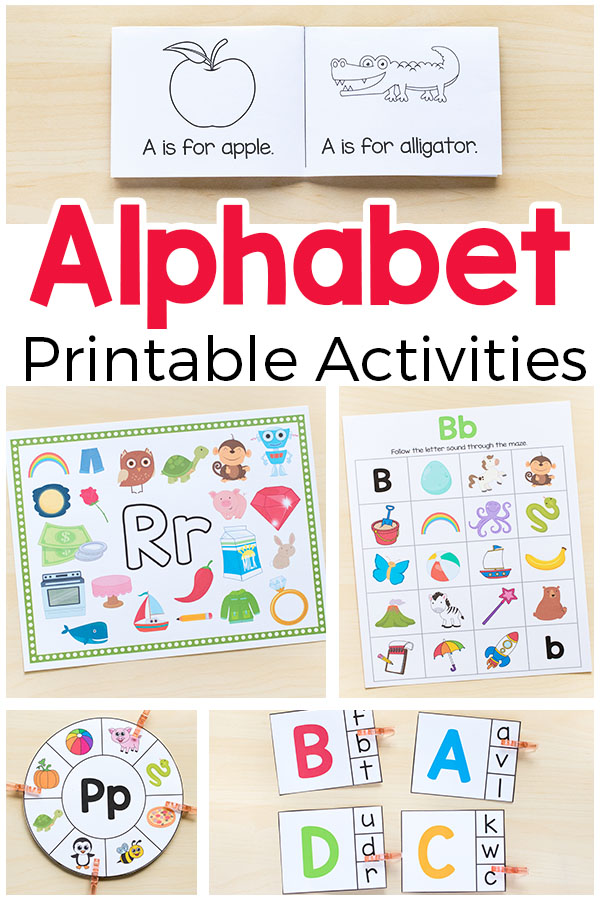 Alphabet printables and activities for preschool and kindergarten.