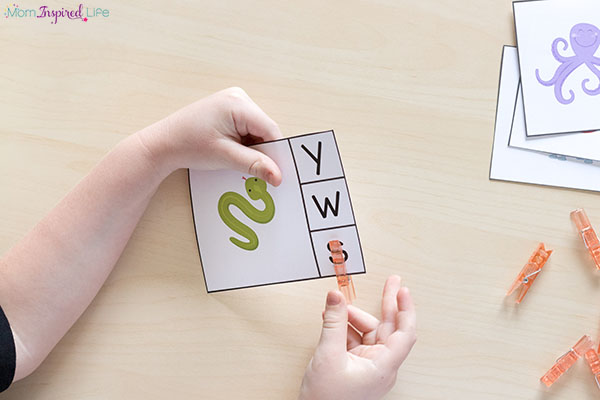 Letter sounds alphabet activities for literacy centers.