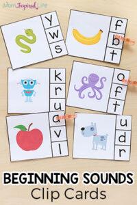 Alphabet Beginning Sounds Clip Cards