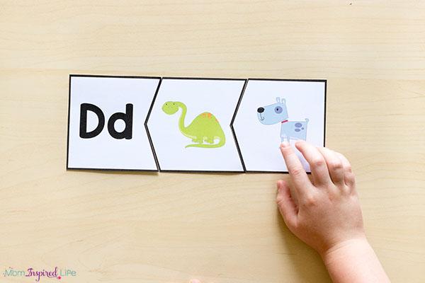 Preschool alphabet puzzles that teach letters and letter sounds.