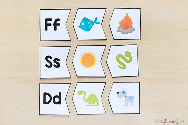 These alphabet puzzles are perfect for alphabet or literacy centers.
