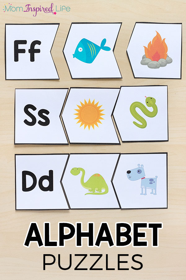 These alphabet puzzles make learning letters hands-on. This preschool and kindergarten alphabet activity is sure to be a hit!
