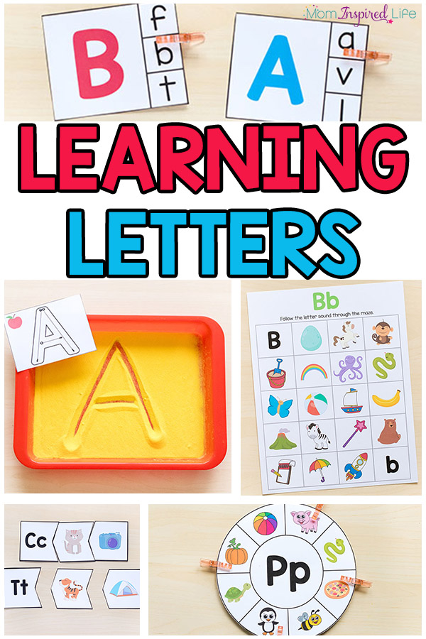 Activities for learning letters in preschool and kindergarten. Fun, hands-on alphabet activities that will engage and excite kids!