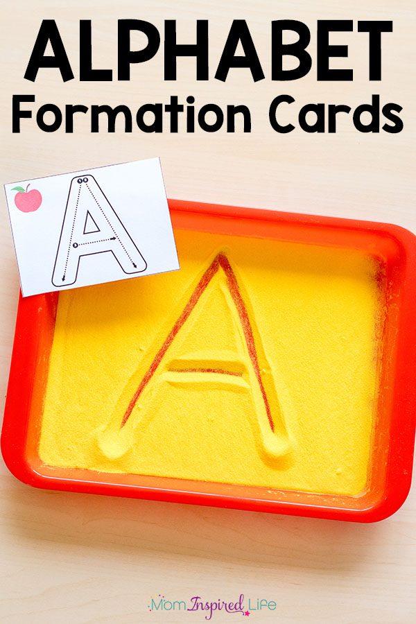Alphabet letter formation cards.