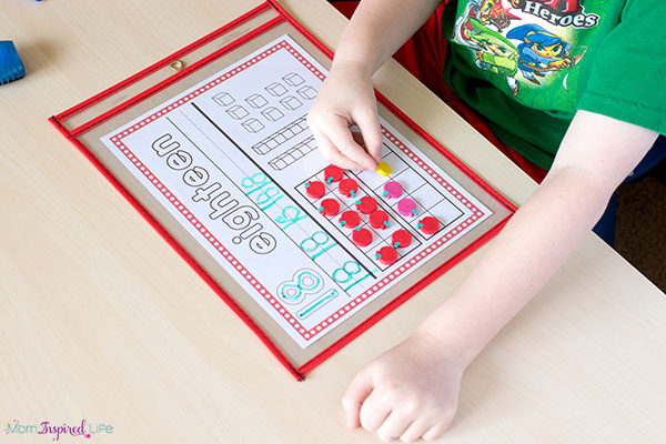 Number sense activity mats are hands-on and effective.