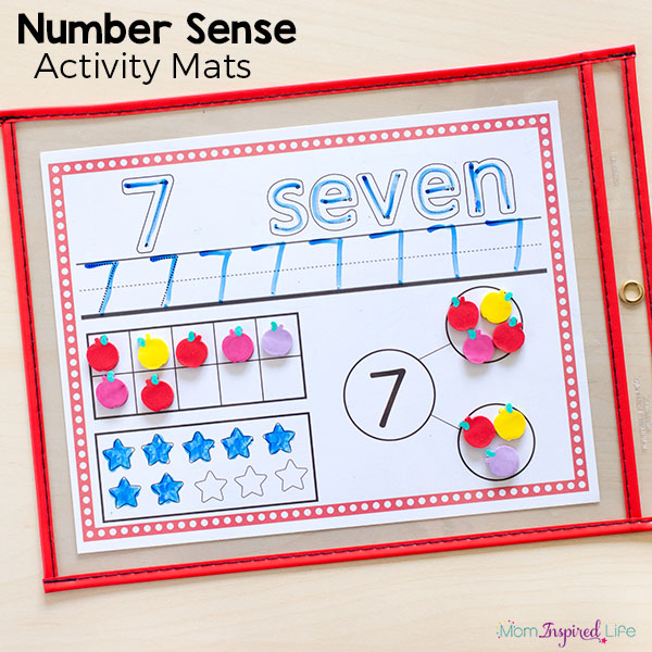 Number sense activity mats make learning math fun, hands-on and engaging!