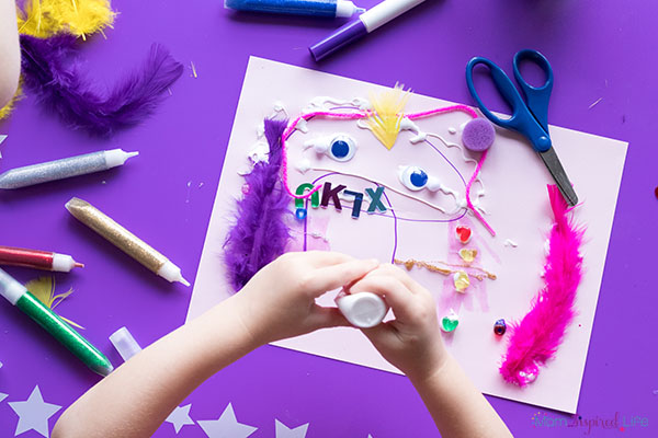 Creating and arts and crafts space for kids.