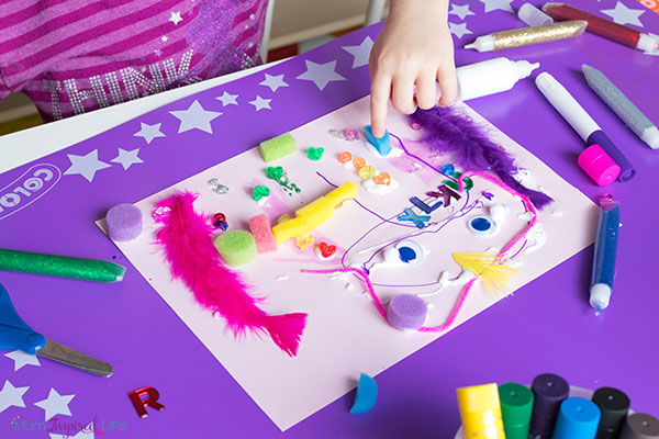 Organizing kids art supplies, must-have preschool art supplies and creating an art space for kids even if you only have a small space available.
