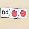 Apple letter sounds puzzles for preschool and kindergarten.