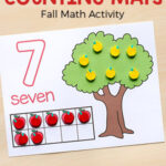 Apple Counting Mats for Preschool and Kindergarten
