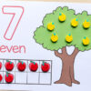 Apple counting mats for preschool and kindergarten. Perfect fall math centers!