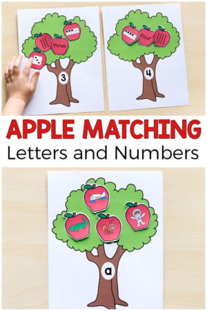 Apple Matching Alphabet Pin