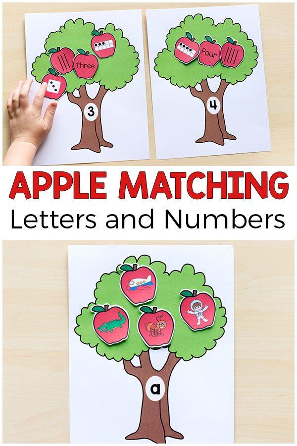 Apple Matching Alphabet Pin
