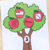 Apple tree number matching activity. A fun apple math activity for pre-k, kindergarten and first grade!