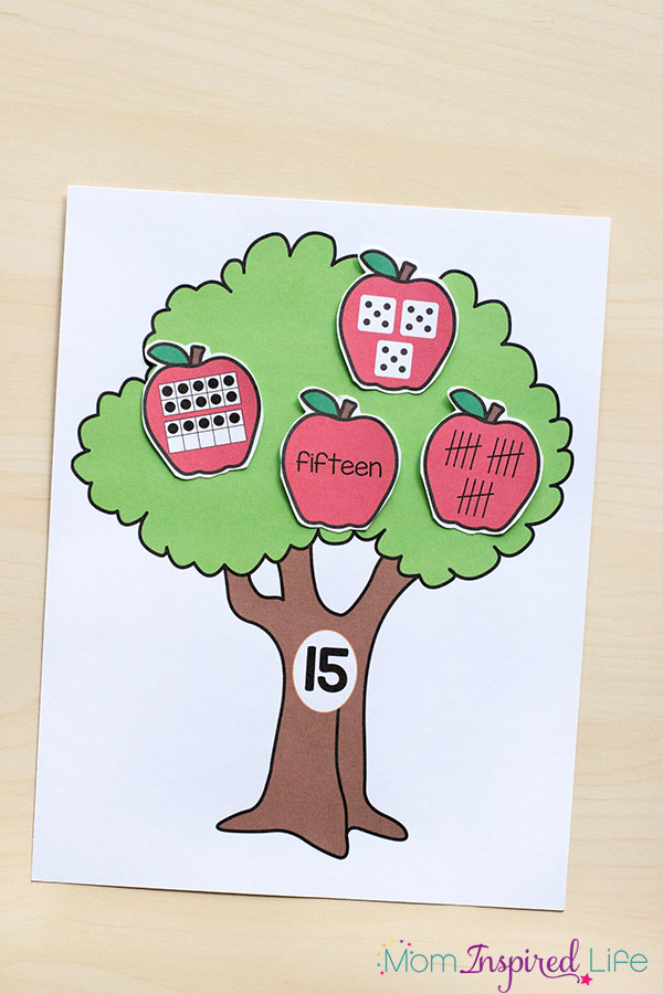 A fun apple activity that teaches kids number sense.