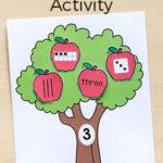 Apple Tree Number Sense Matching Activity
