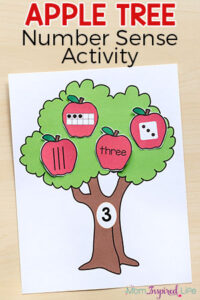 Apple Tree Number Sense Matching Activity