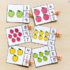 Apple counting clip cards for preschool and kindergarten math centers for fall!