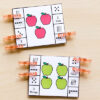 Number sense clip cards for kindergarten and first grade fall math centers.