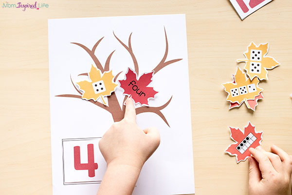Fall centers for kindergarten and first grade.