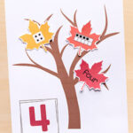 Fall Tree Number Sense Matching Activity