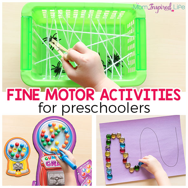 Fine motor activities for preschoolers that are super fun!